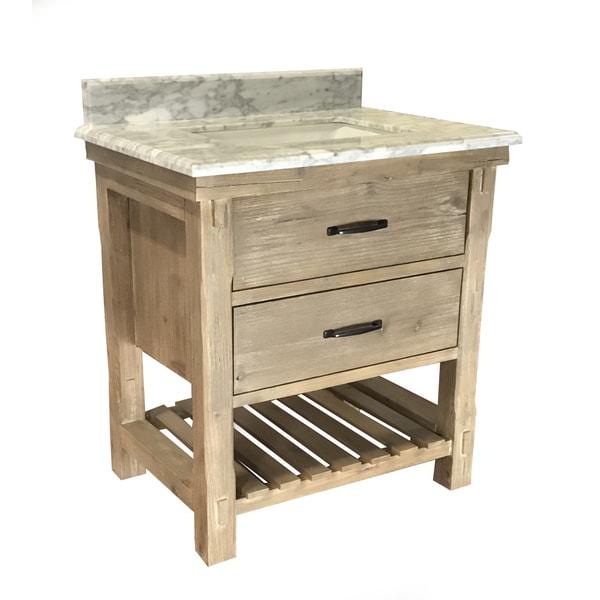 Shop Infurniture Rustic Style Driftwood Finish Ceramic 30