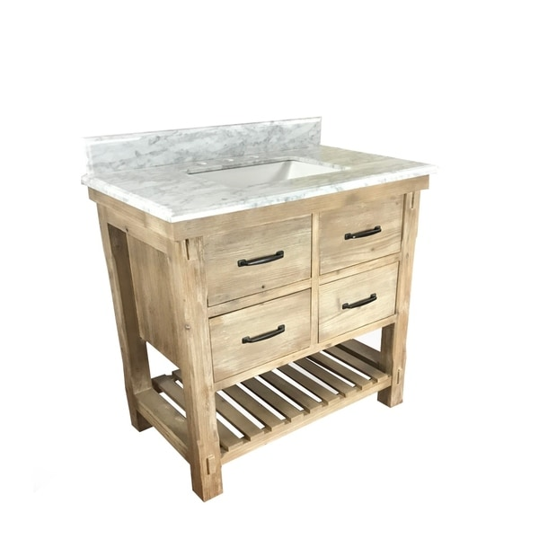 Distressed Driftwood 36 inch Rustic style Single sink Bathroom
