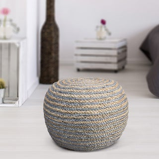 L R Resources Natural Indoor Pouf