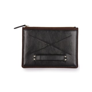 Phive Rivers Men's Leather Ipad Sleeve (Black and Brown)
