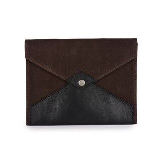 Handmade Phive Rivers Men's Canvas Ipad Sleeve (Brown) (Italy)
