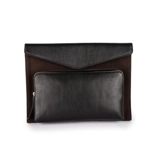 Phive Rivers Men's Leather Laptop Sleeve (Brown)
