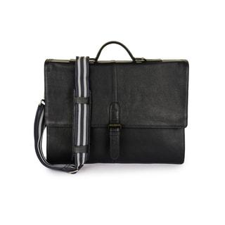 Phive Rivers Men's Leather Messenger Bag (Midnight Blue)