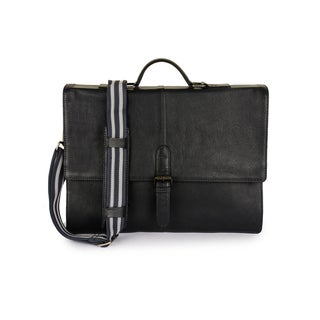 Phive Rivers Men's Leather Messenger Bag (Midnight Blue)