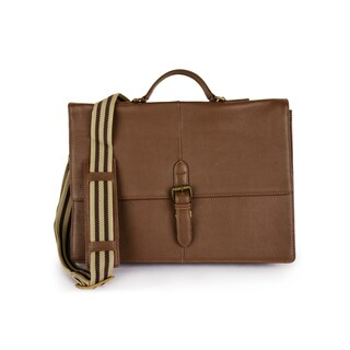 Phive Rivers Men's Leather Messenger Bag (Tan)