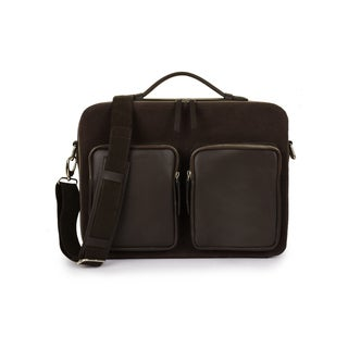 Phive Rivers Men's Canvas Messenger Bag (Brown)