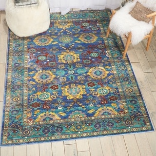 Nourison Cambria Blue Traditional Area Rug (7'10 X10'6  )