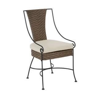 Madison Park Davis Mocha/ Beige Multi Outdoor Arm Chair(set of 2)