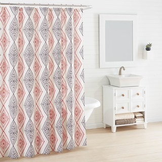 Azalea Skye Cusco Rhombus Beige Shower Curtain