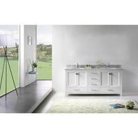 Virtu USA Caroline Avenue 60-inch Round Double Bathroom Vanity Set with No Mirror