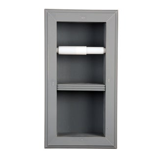 Solid Wood Recessed in wall Bathroom Vertical Mount Wall Hugger Double Toilet Paper Holder-Multiple Finishes