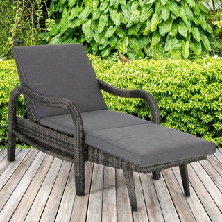 Madison Park Camden Dark Grey Outdoor Lounge Convertible to Chaise
