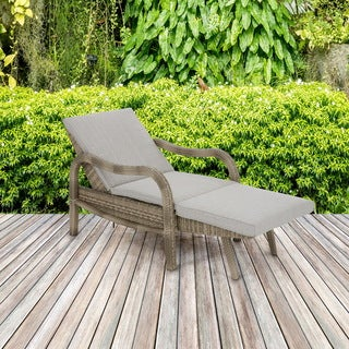 Madison Park Camden Light Grey/ Beige Multi Outdoor Lounge Convertible to Chaise