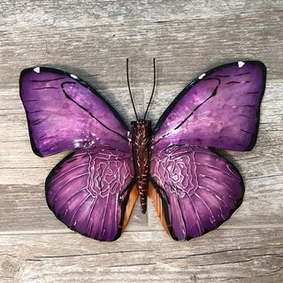 Purple Butterfly Wall