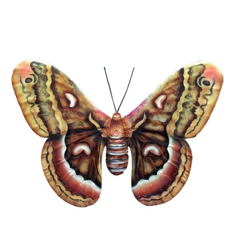 Brown Multi Color Butterfly Wall Decor