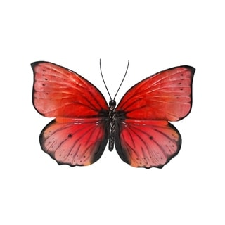 Red And Black Butterfly Wall Decor
