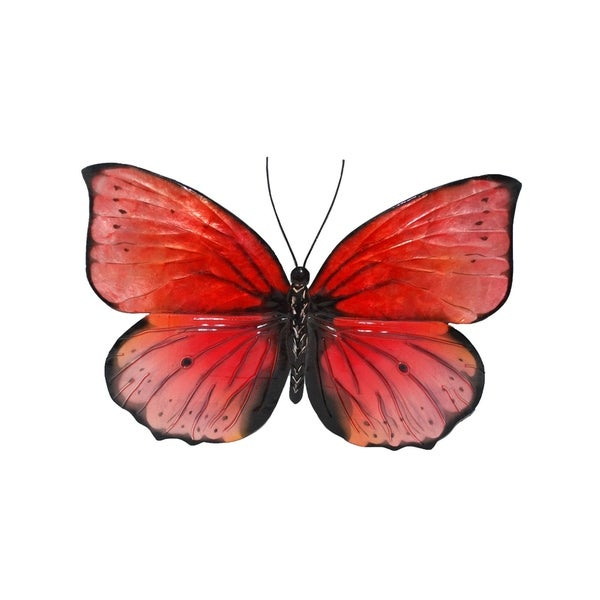 Shop Red And Black Butterfly Wall Decor - On Sale - Free Shipping On ...