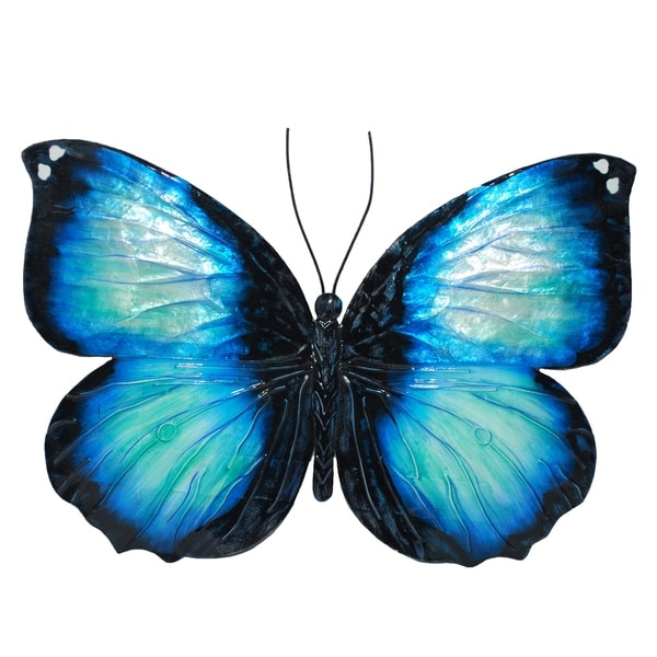 Shop Blue And Black Butterfly Wall Decor - Free Shipping On Orders ...