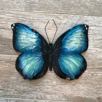Blue And Black Butterfly Wall Decor