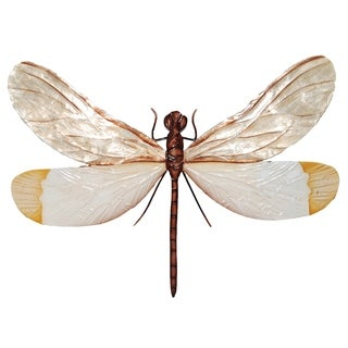 White And Brown Dragonfly Wall Decor