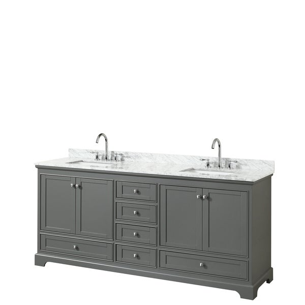 wyndham collection deborah 80-inch double bathroom vanity with no
