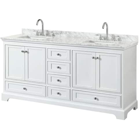 Wyndham Collection Deborah 72-inch Double Bathroom Vanity