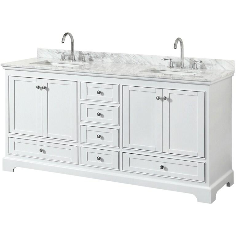 Attirant Wyndham Collection Deborah 72 Inch Double Bathroom Vanity With No Mirror