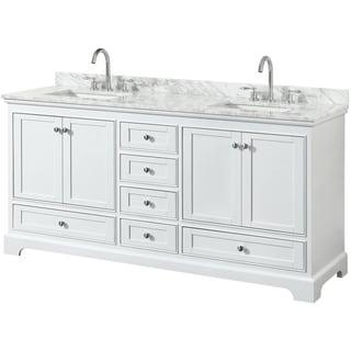 white bathroom vanities. Contemporary Bathroom Wyndham Collection Deborah 72inch Double Bathroom Vanity With No Mirror Inside White Vanities E