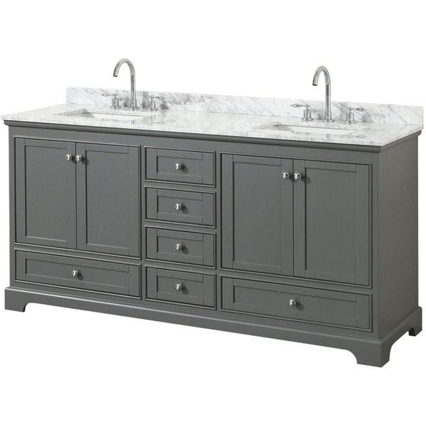 Deborah 72 Inch Double Bathroom Vanity No Mirrors Overstock 16342192