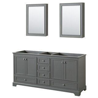Wyndham Collection Deborah 72-inch Double Bathroom Vanity with Medicine Cabinets