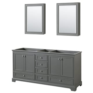Wyndham Collection Deborah 72 Inch Double Bathroom Vanity With Medicine  Cabinets