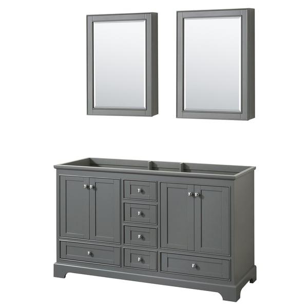 Wyndham Collection Deborah 60 Inch Double Bathroom Vanity With Medicine  Cabinets