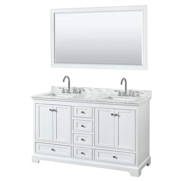 Deborah 60 Inch Double Bathroom Vanity