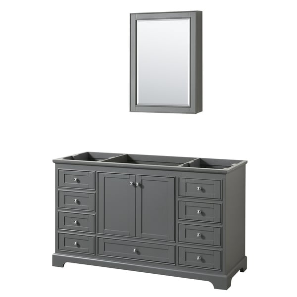 Wyndham Collection Deborah 60-inch Single Bathroom Vanity with Medicine Cabinet
