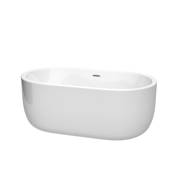 Wyndham Collection Juliette 60 Inch Freestanding Bathtub In White   Free  Shipping Today   Overstock.com   22702763