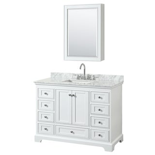 Wyndham Collection Deborah 48 Inch Single Bathroom Vanity With Medicine  Cabinet