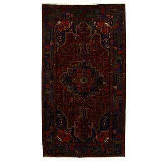 Herat Oriental Persian Hand-knotted Tribal Nahavand Wool Runner (5'1 x 9'2)