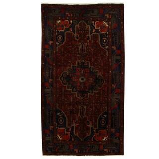 Herat Oriental Persian Hand-knotted Tribal Nahavand Wool Runner (5'1 x 9'2) - 5'1 x 9'2