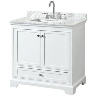 Wyndham Collection Deborah 36-inch Single Bathroom Vanity with No Mirror