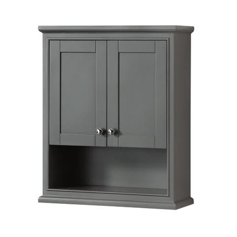 Wyndham Collection Deborah Bathroom Wall-Mounted Storage Cabinet