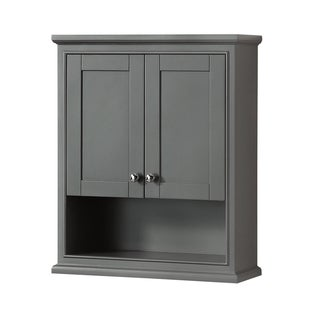 Wyndham Collection Deborah Bathroom Wall-Mounted Storage Cabinet