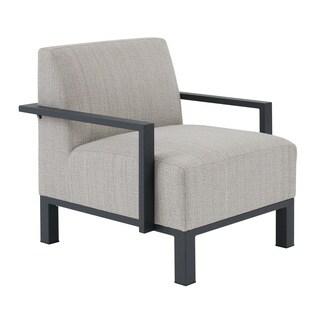 Madison Park Lenox Beige Multi/ Dark Grey Outdoor Arm Chair