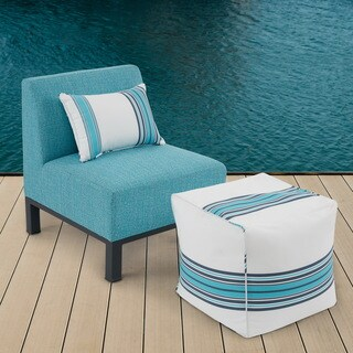 Madison Park Dyckman Blue/ Dark Grey Outdoor Armless Lounge