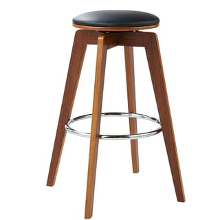 Versanora - Elegante Bentwood Set of 2 Bar Stools - Black
