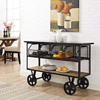 Modway Fairground Metal and Wood Serving Stand