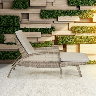 INK+IVY Anna Light Grey/ Beige Multi Outdoor Lounge Convertible to Chaise