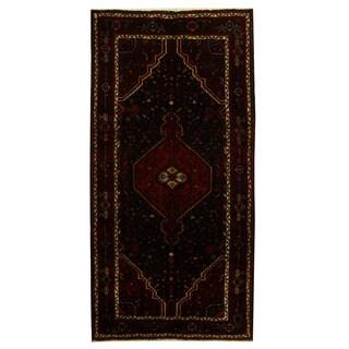 Herat Oriental Persian Hand-knotted Tribal Nahavand Wool Runner (5'4 x 10'8)