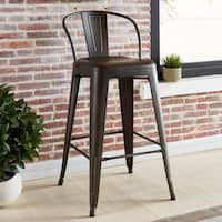 Tivo Industrial-style Brown Metal Counter Stool (Set of 4)