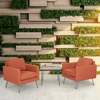 INK+IVY Austin Orange/ Dark Bronze Outdoor Lounge