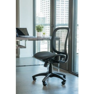 Fully Meshed Ergo Office Chair (Black) with no side Armrests and no Headrest